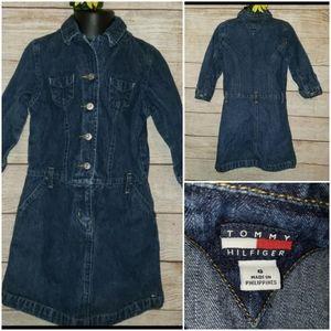 Tommy Hilfiger Girls 6 Denim Blue Jean Dress